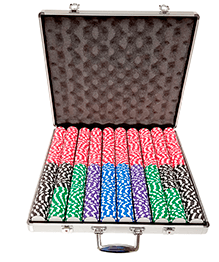 1000ct Aluminum Custom Poker Chips Set