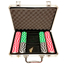 200ct Aluminum Custom Poker Chips Set