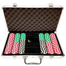 300ct Aluminum Custom Poker Chips Set