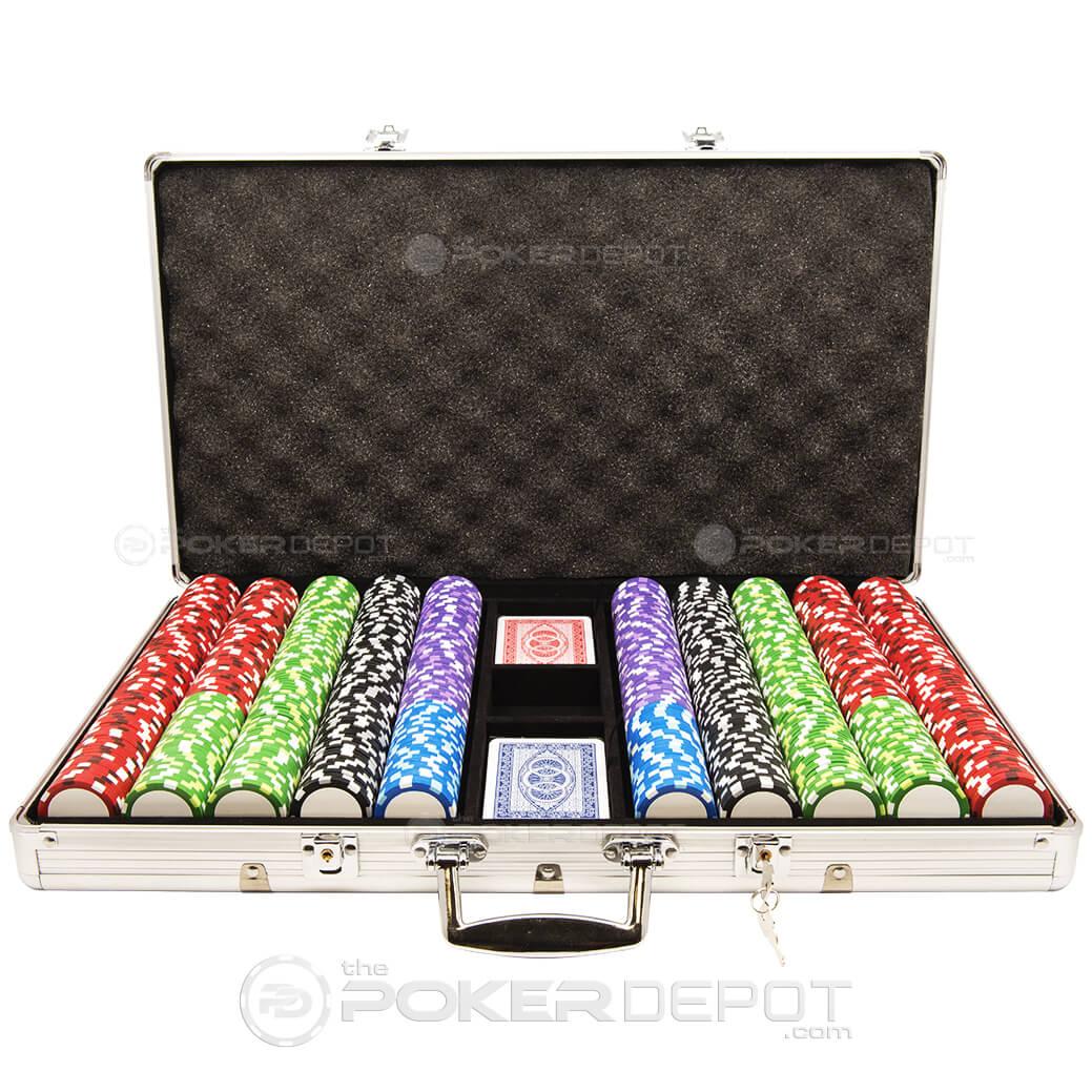 750ct Aluminum Custom Poker Chips Set